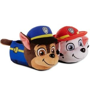 PAW Patrol Chase & Marshall Plush Slippers NWT